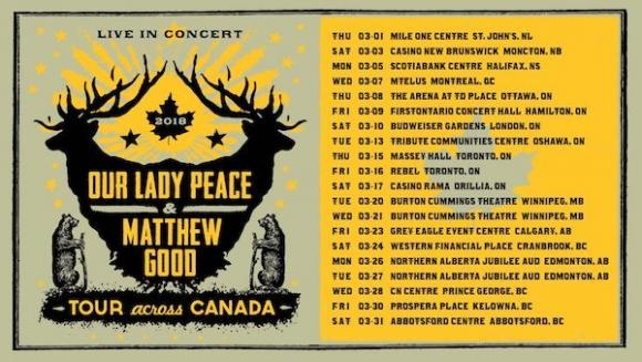 Our Lady Peace & Matthew Good at Northern Alberta Jubilee Auditorium