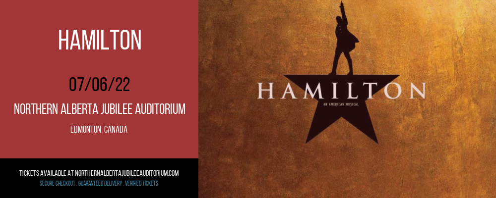 Hamilton at Northern Alberta Jubilee Auditorium