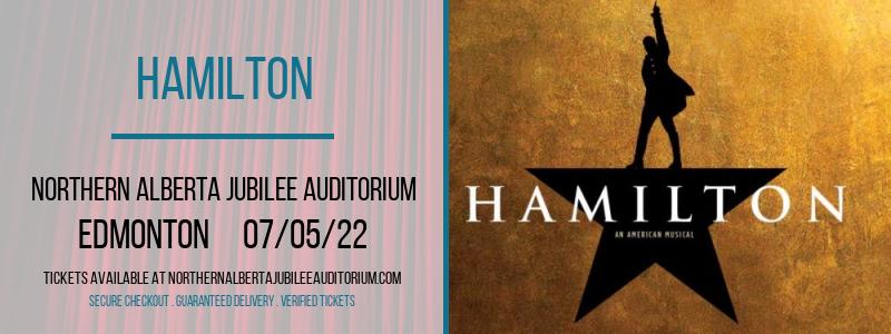 Hamilton at Northern Alberta Jubilee Auditorium